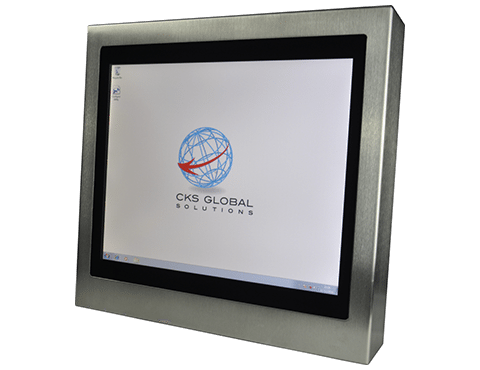 12 Industrial Monitor Display Cased Front