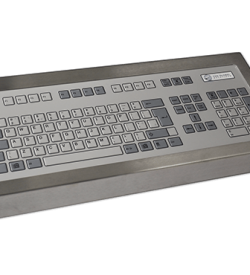 128 Key Industrial Keyboard Cased Front