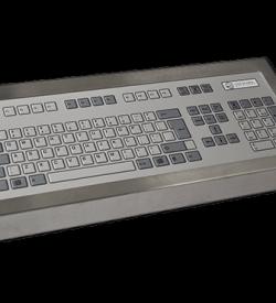 128 Key Industrial Keyboard Cased Front