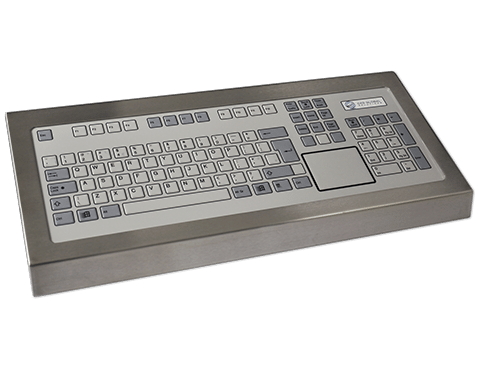 Tough IP67-Rated 128-Key Industrial Keyboard Integrated With Touchpad