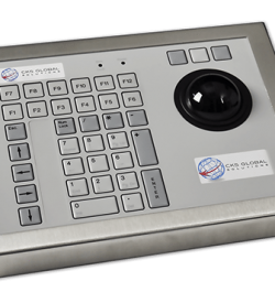 42T Key Industrial Keyboard with Trackerball Cased Front