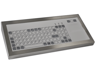 96P Key Industrial Keyboard with Touchpad Cased Front