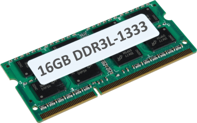 16GB DDR3L 1333MHz 204-pin
