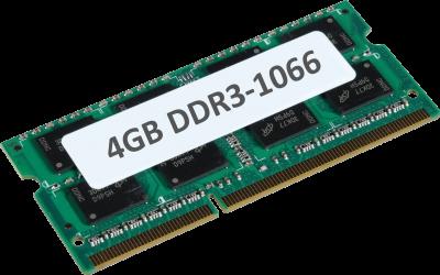 4GB DDR3 1066MHz 204-pin