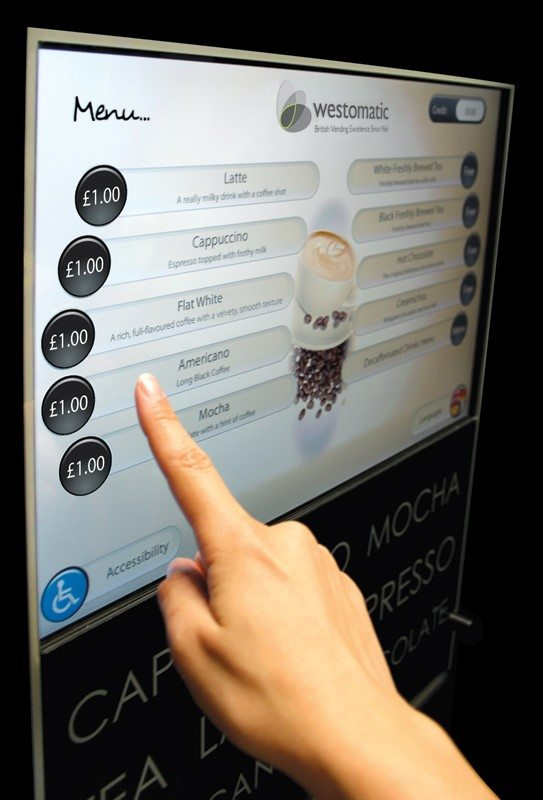Adapt S22 Projected Capacitive Touchscreen Technology For Smart Vending System