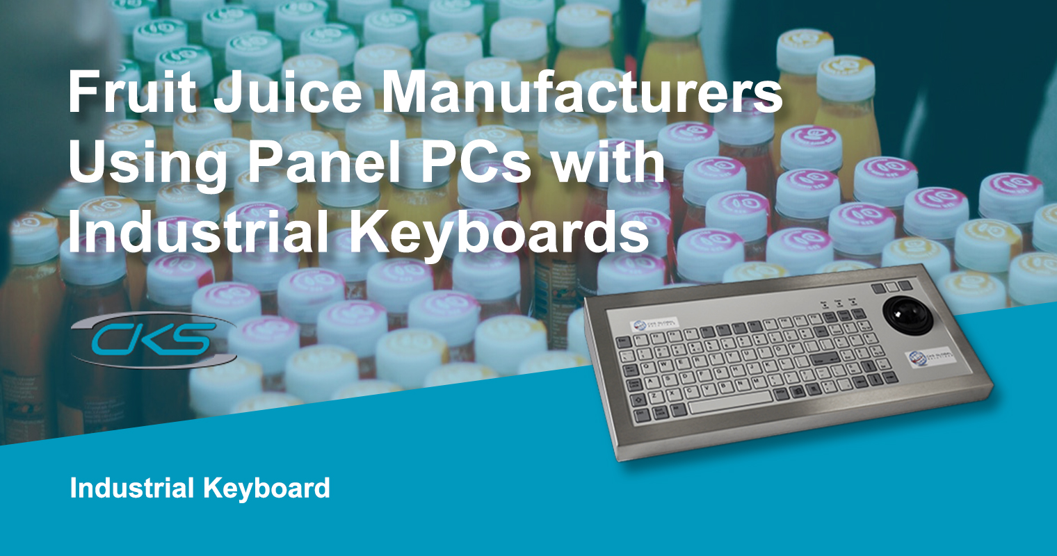 Industrial Keyboards Installed to Panel PCs for Improved Operations
