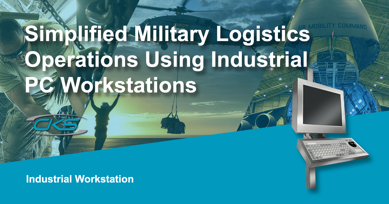 Military Panel PCs Installed on Industrial Workstations for Logistics