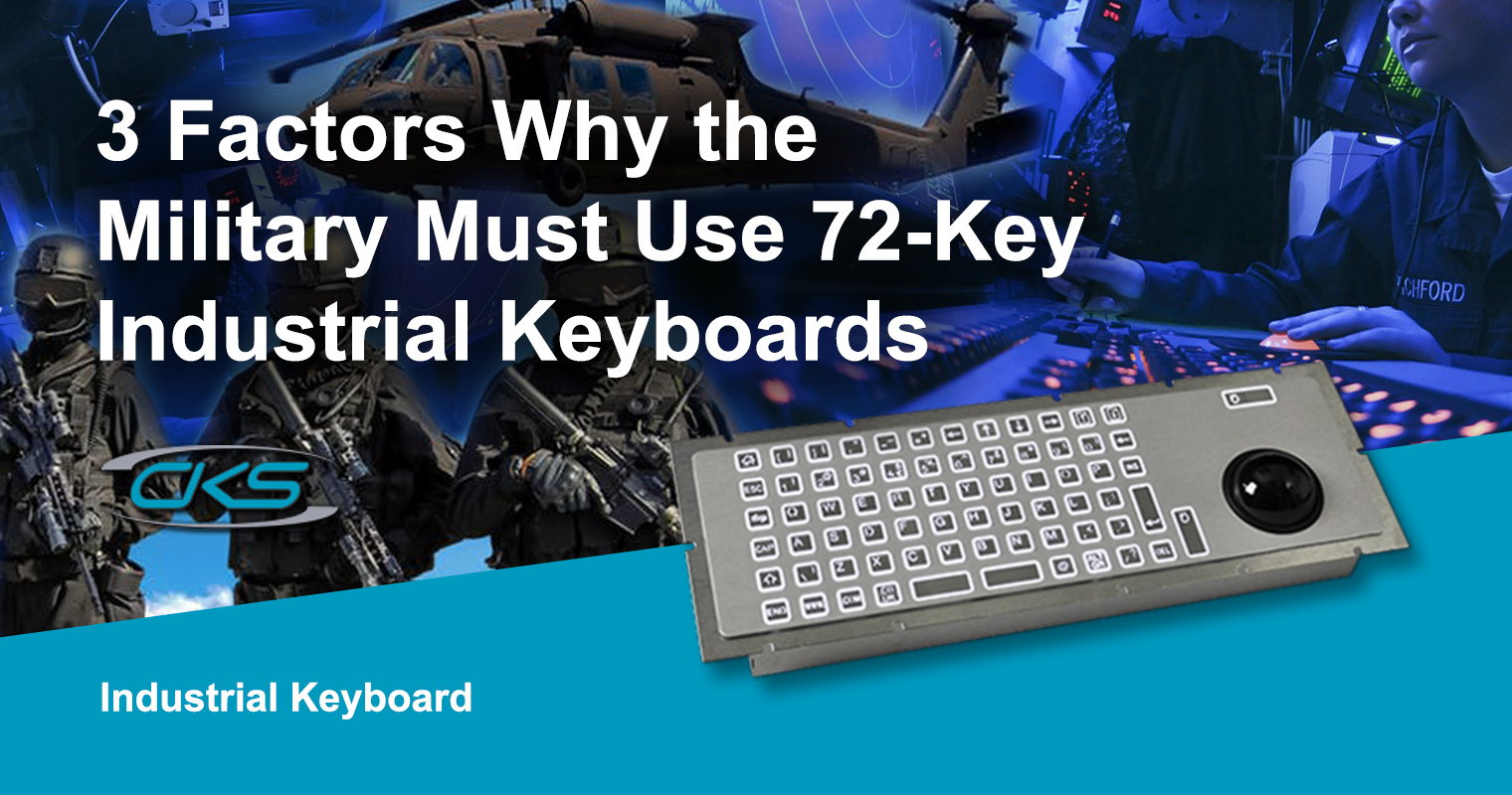 Key Features of the 72-key Industrial Keyboard for Military Use